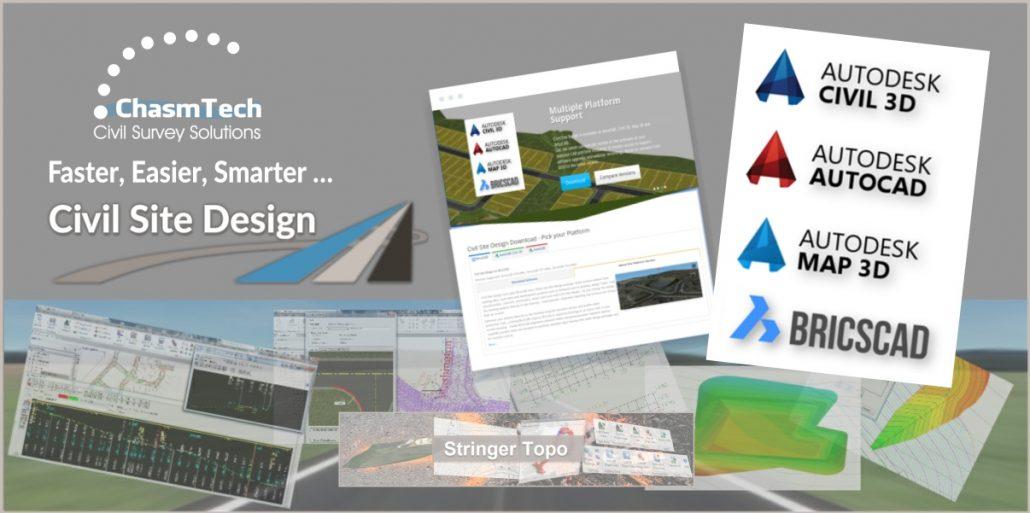 ChasmTech.com - Civil Site Design, Stringer Topo Survey, BricsCAD